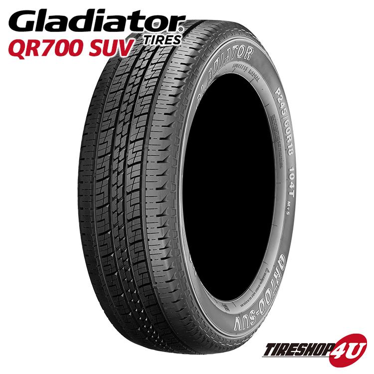 送料無料 新品 GLADIATOR QR700 SUV 265/70R18 グラディエーター 単品 ラジアルタイヤ サマータイヤ 265/70-18