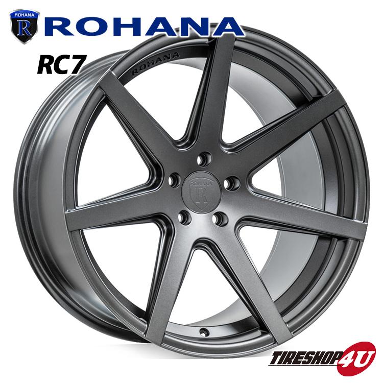 20インチ Rohana RC7 20x9.0J +32 & 11.0J +28 5H-114.3 マットグラファイト 指定輸入タイヤ 245/40R20 285/35R20 Maserati Quattroporte マセラティ クアトロポルテ 新品タイヤホイールセット4本価格 コンケーブ