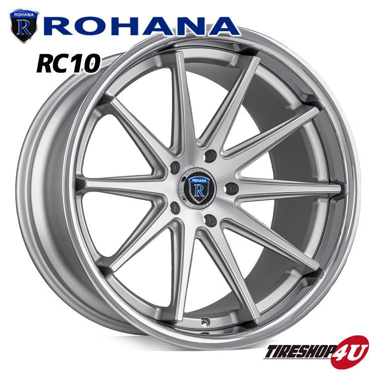 22インチ ROHANA WHEELS RC10(ロハナ ホイールズ) 300C クライスラー 22×9.0 & 10.5J マシンシルバー 265/30R22 295/25R22 新品タイヤホイール4本セット価格 正規輸入品 JWL規格適合品 コンケーブホイール