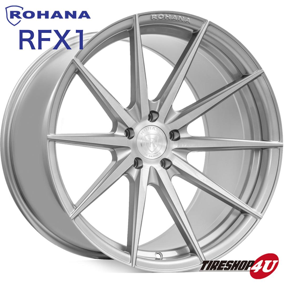 ROHANA RF1 20×9.0J 5/112 +35 ブラッシュドチタニウム ロハナ 新品アルミホイール1本価格