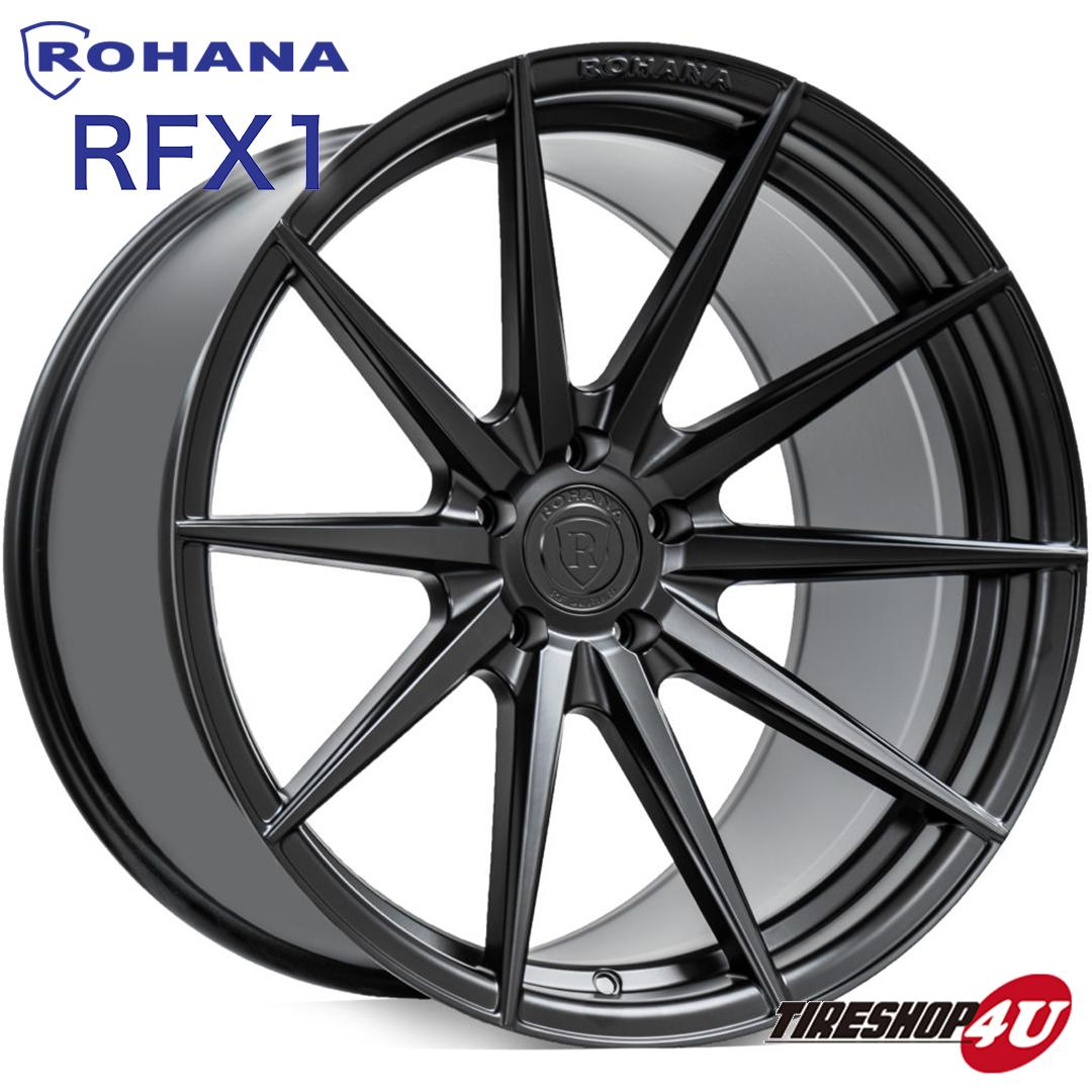 20インチROHANA RF1 20×8.5J5/114.3 5/112 5/120 ブラッシュドチタニウム マットブラック RotaryForm(FlowForm) 新品アルミホイール単品 ロハナホイール コンケーブ
