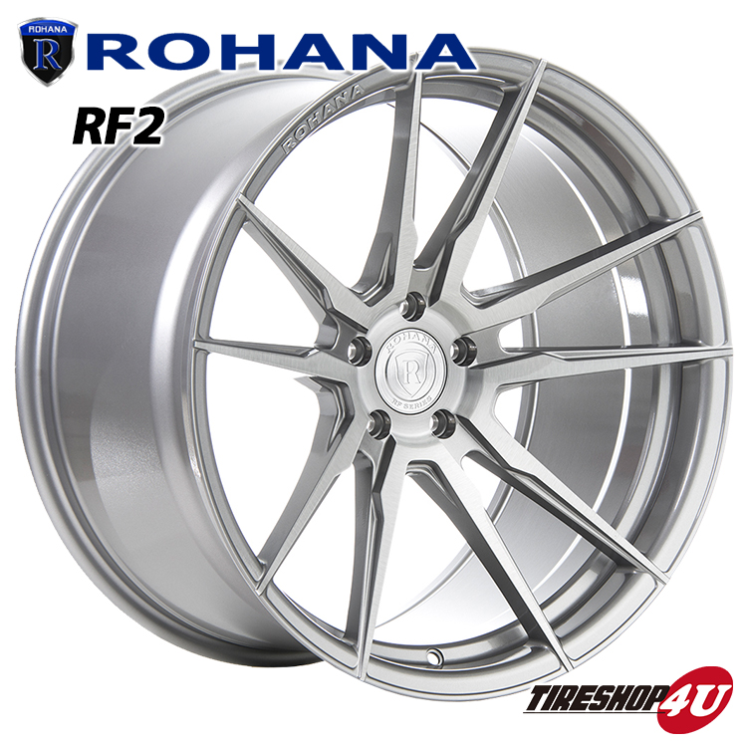 ROHANA RF2 22×10.5 5/115 +13 ブラッシュドチタニウム ロハナ 新品アルミホイール1本価格