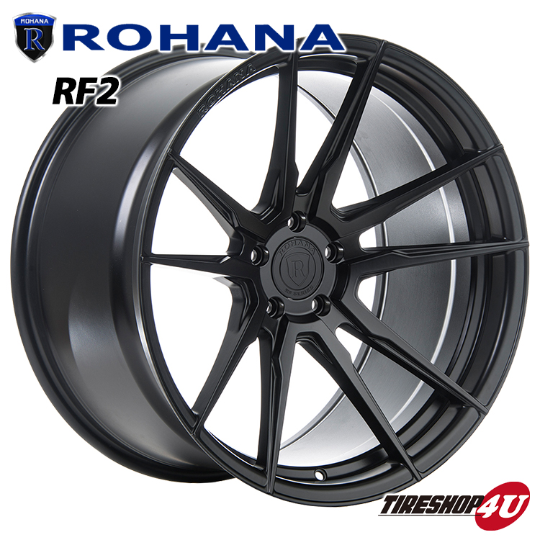 ROHANA RF2 20×12 5/114.3 +28 マットブラック ロハナ 新品アルミホイール1本価格