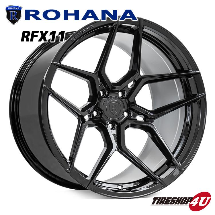 ROHANA RFX11 22×11.5 5/112 +28 グロスブラック ロハナ 新品アルミホイール1本価格