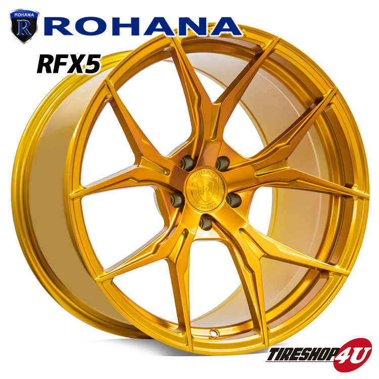 ROHANA RFX5 20×11 5/120 +36 グロスゴールド ロハナ 新品アルミホイール1本価格