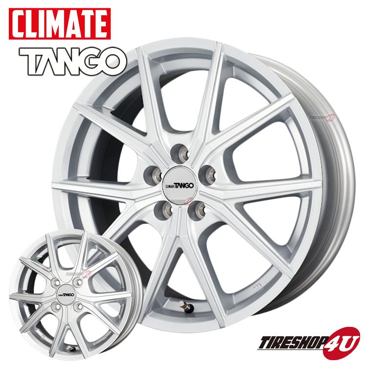 CLIMATE TANGO 17x7.0 高価値 5 114.3 +38 4本単位のみ販売可 17インチ 新品 大規模セール アルミホイール1本価格 数量限定特価 シルバー