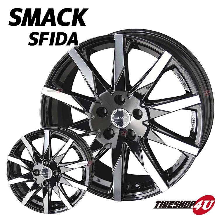18インチSMACK SFIDA(スマック スフィーダ) 18×7.5J 5/114.3 +38 HUB:73Φピアノブラック/ポリッシュ クラウン、マークX、アルファード、ヴェルファイア、ハリアー など JWL規格適合品新品アルミホイール単品1本価格