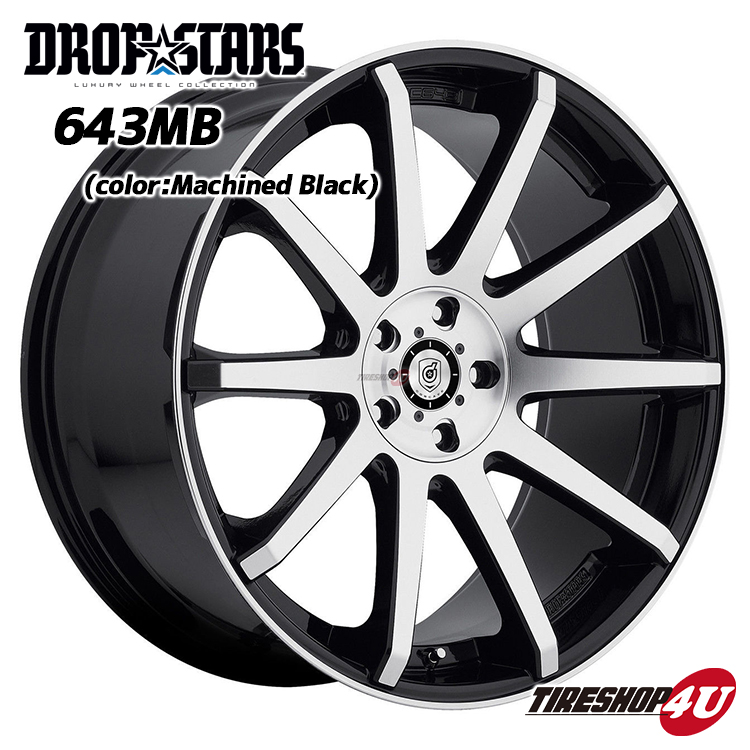 20インチ【DROPSTARS WHEELS DS-643MB】20×8.5J 5H-114.3&112 ET40 マシンブラック【新品ホイール4本セット価格】ハリアー(60系)、CX-5、NX200t、RX450h