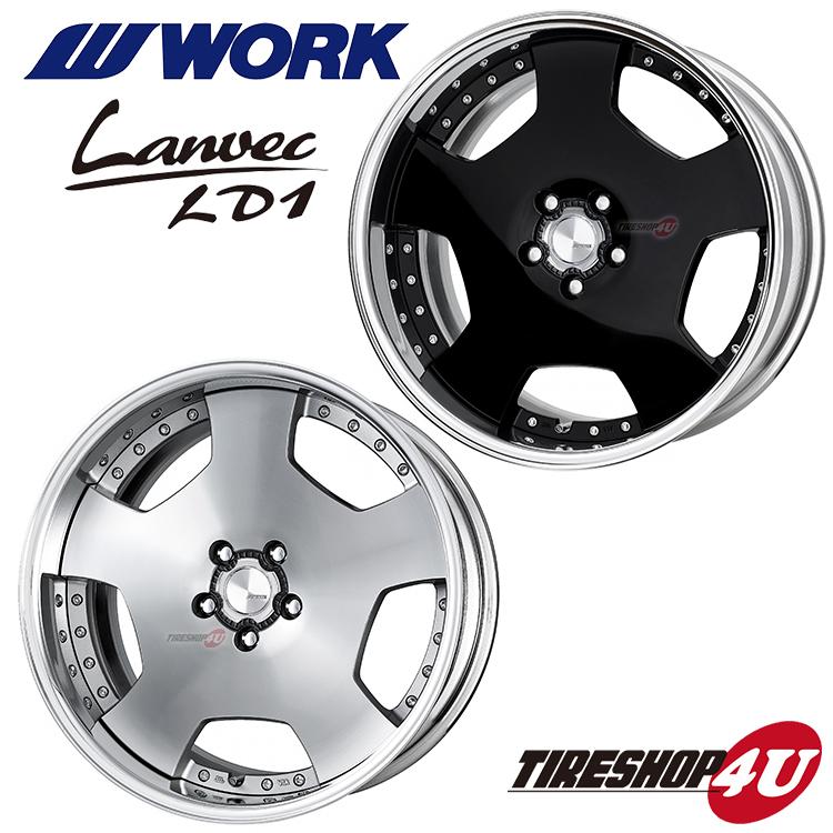 18インチWORK Lanvec LD1 18×7.0J 5H-100/5H-114.3 カラー:B(ブラック)/MSP(アルマイトリム)2PC フルリバースリム 新品アルミホイール1本価格 ワーク ランベック