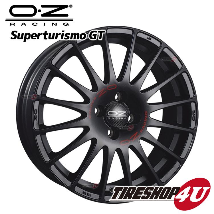 新品アルミホイール1本価格 17インチOZ SUPERTURISMO GT(スーパーツーリズモGT) 17×7.0J 5/114.3 +45MB(マットブラック) 1770 国産車
