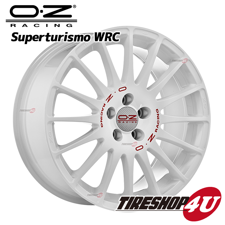 新品アルミホイール1本価格 18インチOZ SUPERTURISMO WRC(スーパーツーリズモWRC) 18×7.0J 4/100 +35W(ホワイト) 1870 VW MINI 国産車