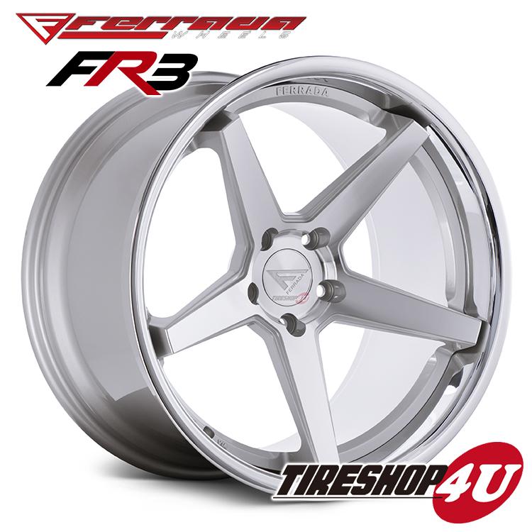 22インチ クライスラー 300FERRADA WHEELS FR3 22×9.5J ET15 &11.0J ET20 マシンシルバー当社指定輸入タイヤ 255/30R22&295/25R22 新品タイヤホイールセット4本価格 JWL規格適合品