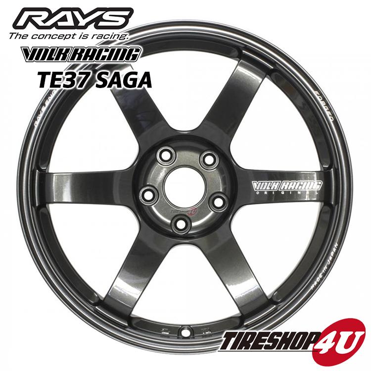 18インチRAYS VOLK Racing TE37SAGA 18×8.0J 5/120 +45MM(ダイヤモンドダークガンメタ) レイズ ボルクレーシング TE37 サーガ 鍛造 新品アルミホイール1本価格 FACE-1