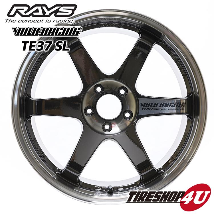 17インチRAYS VOLK Racing TE37SL 17×7.5J 5/114.3 +40PW(プレストダブルブラック) レイズ ボルクレーシング TE37SL 鍛造 新品アルミホイール1本価格