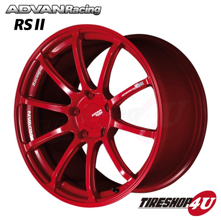 20インチADVAN Racing RS2 20×11.0J 5/130 +65 HUB:71.6φRR(レーシングレッド) アドバンレーシング 新品アルミホイール1本価格 ポルシェ専用