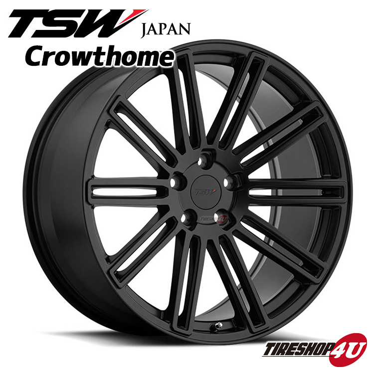 新品アルミホイール1本価格 20インチTSW Crowthome(クロウソーン) 20×8.5J 5/112 +20マットブラック 2085