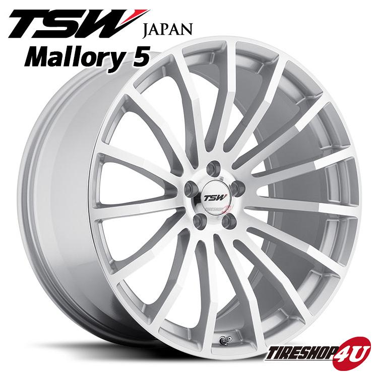 1670 16×7.0J 16インチTSW (マロリー) Mallory +35シルバーw/ 5/100 ミラーカットフェイス 新品アルミホイール1本価格