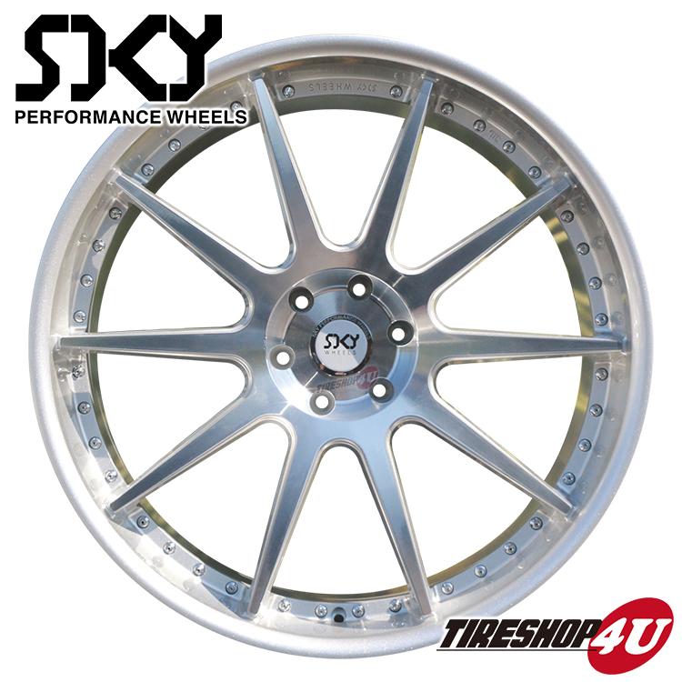 24インチ SKY PERFORMANCE WHEELS 24×10.0J 5/130 +5 シルバー スカイ パフォーマンス ホイール 当社指定輸入タイヤ 275/30R24 新品タイヤホイールセット4本価格 ポルシェ カイエン ワイド