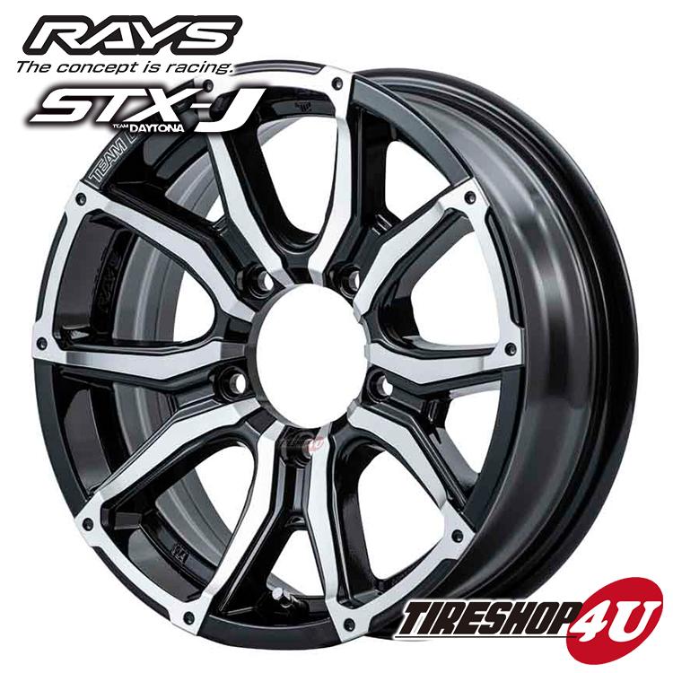 取付対象 TOYO PROXES CF2 SUV 175/80R16 RAYS TEAM DAYTONA STX-J 16×5.5J 5/139.7 ±0 BAJ(ブラック/ダイヤモンドカット) トーヨー プロクセス レイズ ジムニー JB64W/JB23W