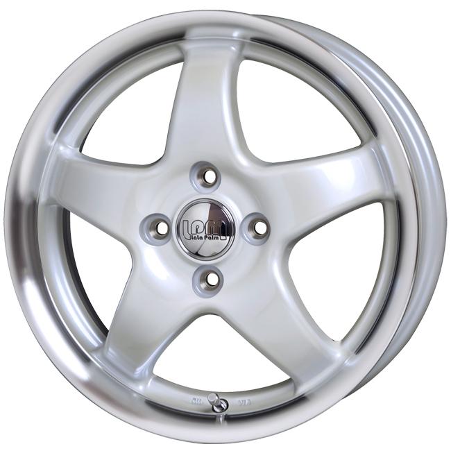 取付対象 LaLaPalm STAR 14x4.5 4/100 +45 パールホワイト/リムポリッシュマッドスター RADIAL M/T 165/65R14 ハスラー ウェイク キャストアクティバ 軽トラック など 新品タイヤホイールセット4本価格 ララパーム スター