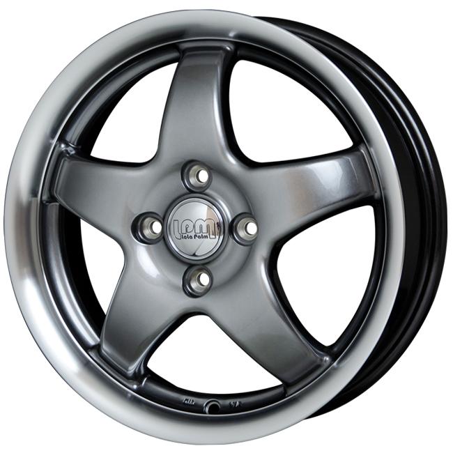 取付対象 LaLaPalm STAR 14x4.5 4/100 +45 ハイパーメタル/リムポリッシュマッドスター RADIAL M/T 165/65R14 ハスラー ウェイク キャストアクティバ 軽トラック など 新品タイヤホイールセット4本価格 ララパーム スター