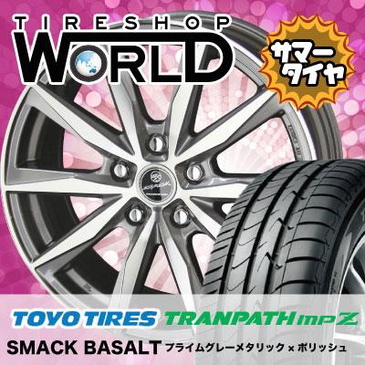 215/70R15 98H TOYO TIRES トーヨータイヤ TRANPATH mpZ トランパス mpZ SMACK BASALT スマック バサルト サマータイヤホイール4本セット