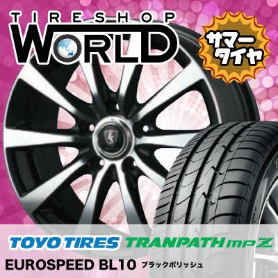 215/70R16 100H TOYO TIRES トーヨータイヤ TRANPATH mpZ トランパス mpZ EUROSPEED BL10 ユーロスピード BL10 サマータイヤホイール4本セット