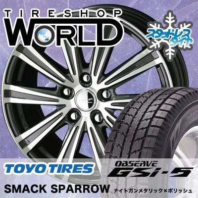 235/70R16 106Q TOYO TIRES トーヨータイヤ OBSERVE GSi-5 オブザーブ GSi5 SMACK SPARROW スマック スパロー スタッドレスタイヤホイール4本セット