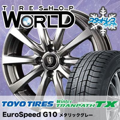 185/65R15 88Q TOYO TIRES トーヨー タイヤ Winter TRANPATH TX ウィンタートランパス TX Euro Speed G10 ユーロスピード G10 スタッドレスタイヤホイール4本セット