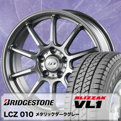 195/70R15 106/104L BRIDGESTONE ブリヂストン BLIZZAK VL-1 ブリザック VL1 LCZ010 LCZ010 スタッドレスタイヤホイール4本セット
