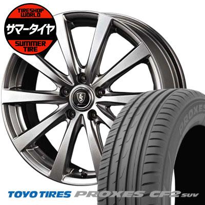 235/55R18 100V TOYO TIRES トーヨータイヤ PROXES CF2 SUV プロクセス CF2 SUV Euro Speed G10 ユーロスピード G10 サマータイヤホイール4本セット