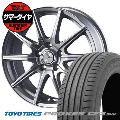 215/70R15 98H TOYO TIRES トーヨー タイヤ PROXES CF2 SUV プロクセス CF2 SUV V-EMOTION SR10 Vエモーション SR10 サマータイヤホイール4本セット