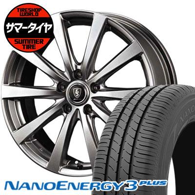 195/65R15 91H TOYO TIRES トーヨータイヤ NANOENERGY3 PLUS ナノエナジー3 プラス Euro Speed G10 ユーロスピード G10 サマータイヤホイール4本セット