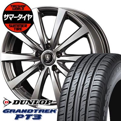 225/55R18 98V DUNLOP ダンロップ GRANDTREK PT3 グラントレック PT3 Euro Speed G10 ユーロスピード G10 サマータイヤホイール4本セット