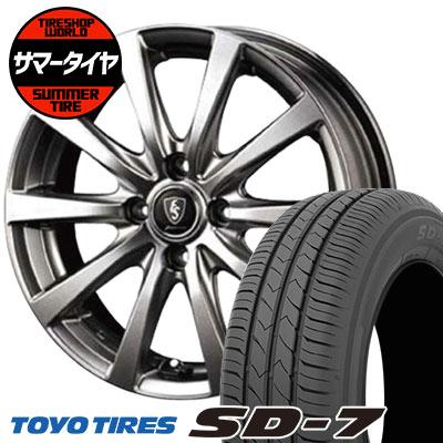 185/55R15 82V TOYO TIRES トーヨー タイヤ SD-7 エスディーセブン Euro Speed G10 ユーロスピード G10 サマータイヤホイール4本セット