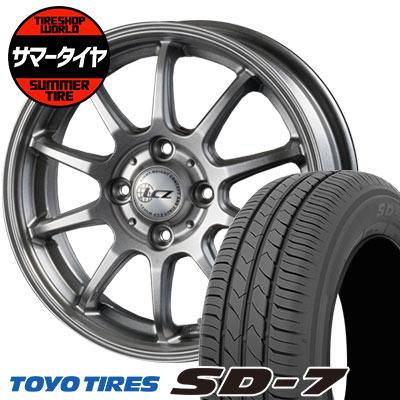 185/60R15 84H TOYO TIRES トーヨー タイヤ SD-7 エスディーセブン LCZ010 LCZ010 サマータイヤホイール4本セット