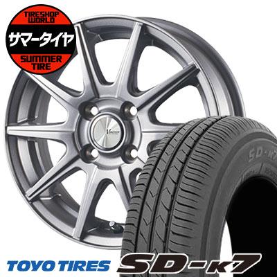 155/65R14 75S TOYO TIRES トーヨー タイヤ SD-K7 エスディーケ-セブン V-EMOTION SR10 Vエモーション SR10 サマータイヤホイール4本セット