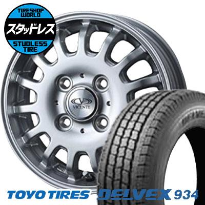 145/80R12 86/84N TOYO TIRES トーヨータイヤ DELVEX 934 デルベックス 934 VICENTE-04CA ヴィセンテ04 CA スタッドレスタイヤホイール4本セット