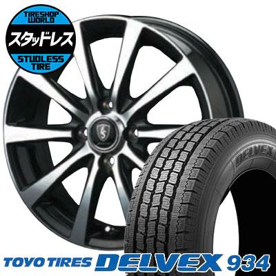155/80R12 88/87N TOYO TIRES トーヨータイヤ DELVEX 934 デルベックス 934 EuroSpeed BL10 ユーロスピード BL10 スタッドレスタイヤホイール4本セット