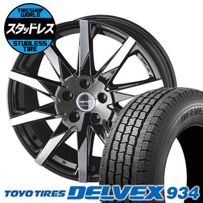 195/70R15 106/104 TOYO TIRES トーヨータイヤ DELVEX 934 デルベックス 934 SMACK SFIDA スマック スフィーダ スタッドレスタイヤホイール4本セット