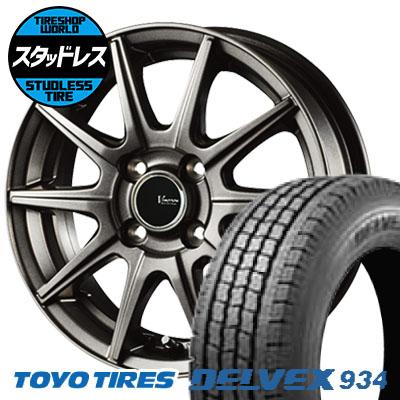 155/80R12 88/87N TOYO TIRES トーヨータイヤ DELVEX 934 デルベックス 934 V-EMOTION GS10 Vエモーション GS10 スタッドレスタイヤホイール4本セット