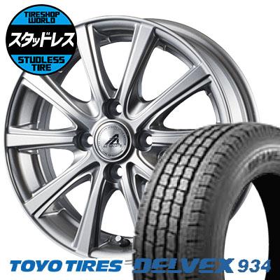 145/80R12 86/84N TOYO TIRES トーヨータイヤ DELVEX 934 デルベックス 934 AZ sports YL-10 AZスポーツ YL-10 スタッドレスタイヤホイール4本セット