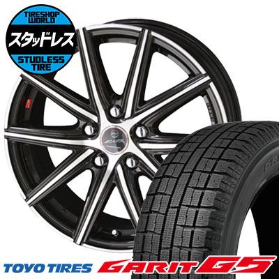 205/60R16 92Q TOYO TIRES トーヨータイヤ GARIT G5 ガリット G5 SMACK PRIME SERIES VANISH スマック プライムシリーズ ヴァニッシュ スタッドレスタイヤホイール4本セット