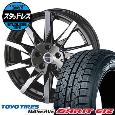 205/65R15 94Q TOYO TIRES トーヨータイヤ OBSERVE GARIT GIZ オブザーブ ガリット ギズ SMACK SFIDA スマック スフィーダ スタッドレスタイヤホイール4本セット