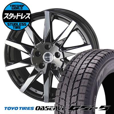 225/80R15 105Q TOYO TIRES トーヨータイヤ OBSERVE GSi-5 オブザーブ GSi5 SMACK SFIDA スマック スフィーダ スタッドレスタイヤホイール4本セット
