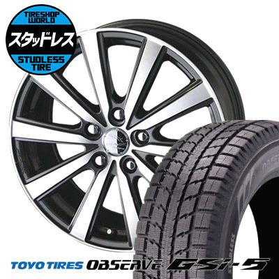 235/70R16 106Q TOYO TIRES トーヨータイヤ OBSERVE GSi-5 オブザーブ GSi5 SMACK VIR スマック VI-R スタッドレスタイヤホイール4本セット
