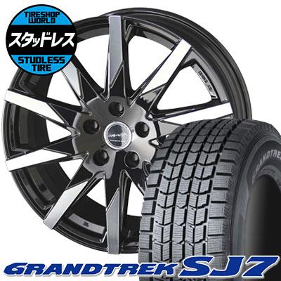 225/70R15 100Q DUNLOP ダンロップ GRANDTREK SJ7 グラントレック SJ7 SMACK SFIDA スマック スフィーダ スタッドレスタイヤホイール4本セット