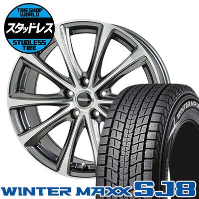 215/70R15 98Q DUNLOP ダンロップ WINTER MAXX SJ8 ウインターマックス SJ8 Laffite LE-04 ラフィット LE-04 スタッドレスタイヤホイール4本セット