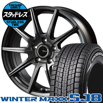 215/70R16 100Q DUNLOP ダンロップ WINTER MAXX SJ8 ウインターマックス SJ8 V-EMOTION GS10 Vエモーション GS10 スタッドレスタイヤホイール4本セット