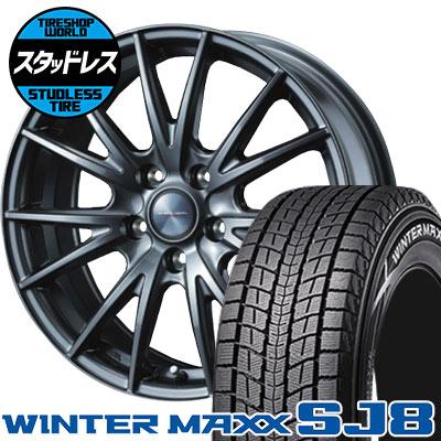215/70R16 100Q DUNLOP ダンロップ WINTER MAXX SJ8 ウインターマックス SJ8 VELVA SPORT ヴェルヴァ スポルト スタッドレスタイヤホイール4本セット